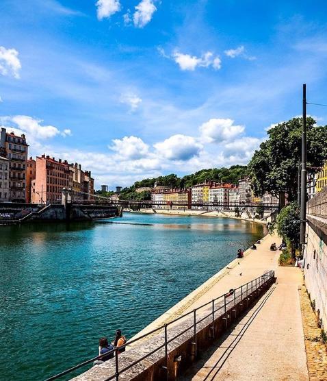 Photo de Lyon instagram fleuve saône